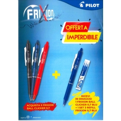 OFFERTA 3 PENNE FRIXION PILOT + 1 FRIXION + 3 REFILLS