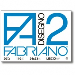 BLOCCO FABRIANO F2 24X33 LISCIO