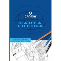 CARTA LUCIDA 80 gr. BLOCCO 10 FOGLI CANSON