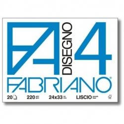 BLOCCO DISEGNO F4 24X33 LISCIO 20 FG. FABRIANO