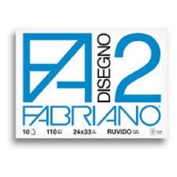 BLOCCO DISEGNO F2 24X33 20 FG. FABRIANO Versione: ruvido gr. 110