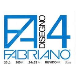 BLOCCO DISEGNO F4 RUVIDO 24X33 20 FG. FABRIANO