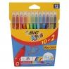 Pennarelli colorati Confezione da 10 + 2 Bic Kids