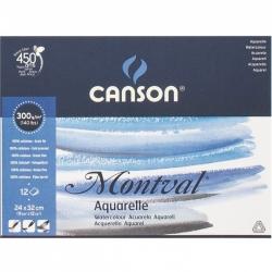 ALBUM BELLE ARTI MONTVAL 300g/m² 12 fg. CANSON Versione: 24x32 cm. - grana fine