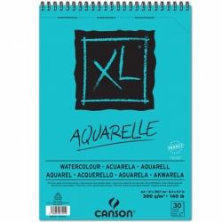 ALBUM DISEGNO spirale XL-AQUARELLE GRANA FINE A4 30 FF. GR.300 CANSON